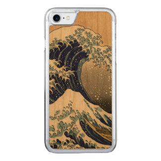 PixDezines Vintage Great Waves Carved iPhone 8/7 Case