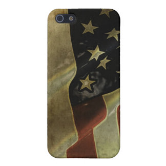 PixDezines Vintage / Grunge American Flag Case For The iPhone 5