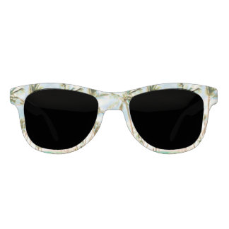 PixDezines Vintage Hawaiian Beach/Blue Sky Sunglasses
