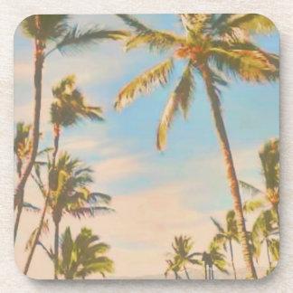 PixDezines vintage hawaiian beach Coaster