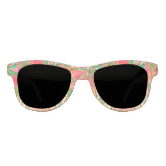 PixDezines Vintage Hawaiian Beach/Coral+Teal Sunglasses