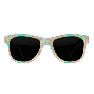 PixDezines Vintage Hawaiian Beach/Teal Sunglasses