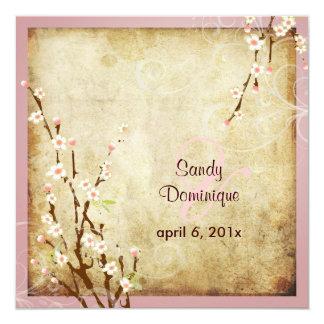 PixDezines Vintage Sakura, DIY colors! 13 Cm X 13 Cm Square Invitation Card