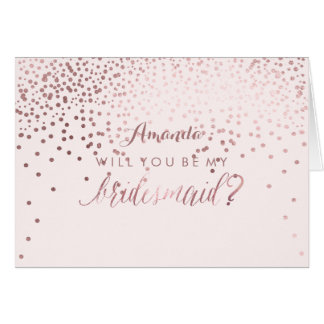PixDezines Will You Be My Bridesmaid Card