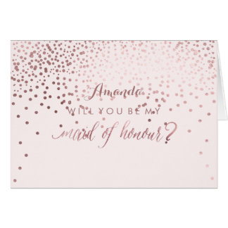 PixDezines Will You Be My Maid of Honour Card
