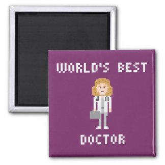 Pixel Art Female Doctor Magnet