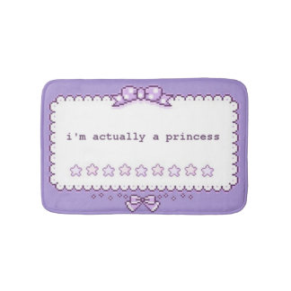 Pixel Art Princess Bath Mat