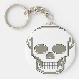 Pixel art skull key ring