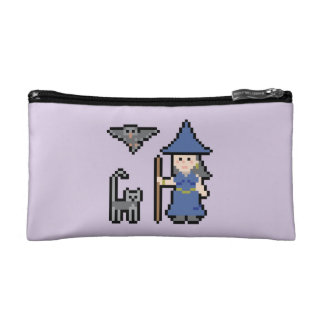 Pixel Art Witch Small Cosmetic Bag