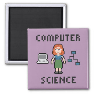 Pixel Computer Science - Female - Magnet
