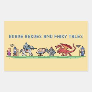 Pixel Fairy Tales Rectangle Sticker