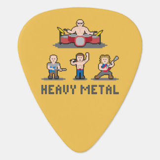 Pixel Heavy Metal Guitar Pick
