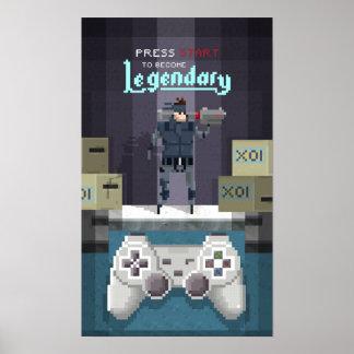 Pixel Legendary BOSS Poster