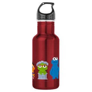 Pixel Sesame Street Characters 532 Ml Water Bottle