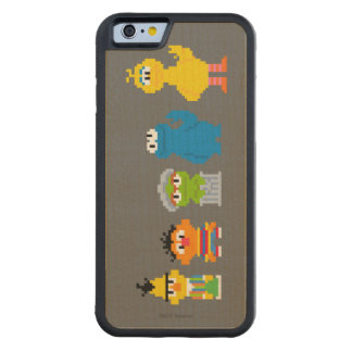 Pixel Sesame Street Characters Carved Maple iPhone 6 Bumper Case