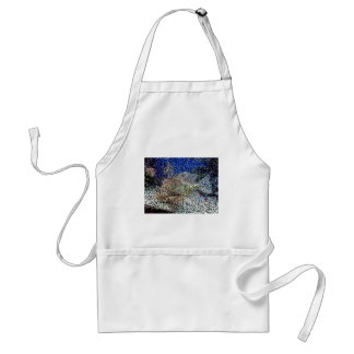 pixelated fish apron