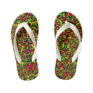 Pixelated Flip-Flops I Kid's Jandals
