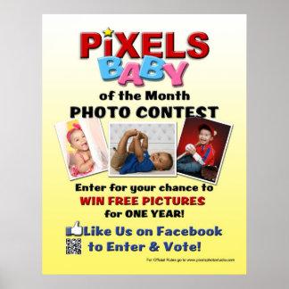 Pixels Baby Photo Contest Poster