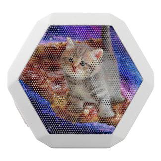 pizza cat - cute cats - kitty - kittens white bluetooth speaker