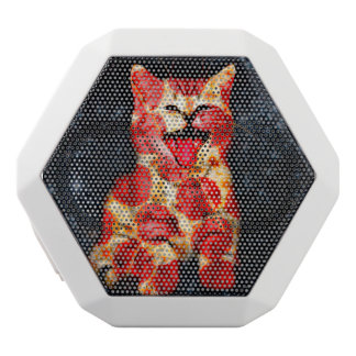 pizza cat - kitty - pussycat white bluetooth speaker