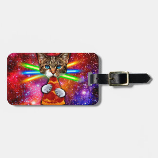 Pizza cat - space cat - cute cats - crazy cat luggage tag