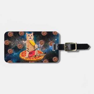 Pizza cat - Space cat - Orange cat - donut cat Luggage Tag