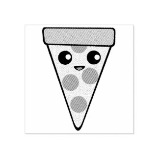 Pizza Character Rubber Stamp