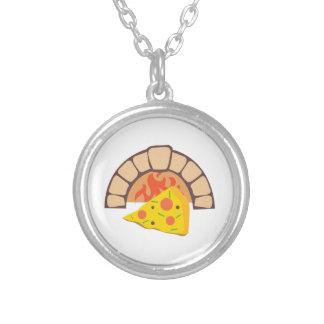 Pizza Oven Round Pendant Necklace
