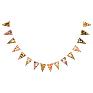 Pizza Party Birthday Flag Banner