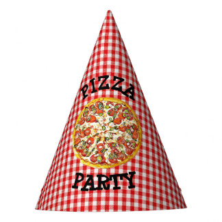 Pizza Party Paper Party Birthday Hat