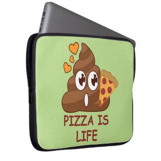 Pizza Poop Life Laptop Sleeve