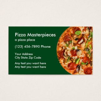 Pizza Restaurant Coupon Business Card
