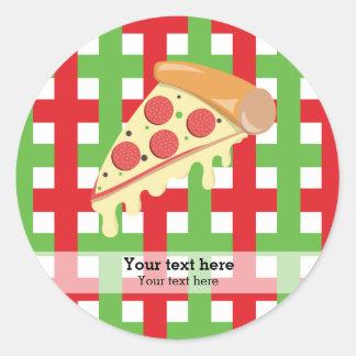 Pizza restaurant round sticker