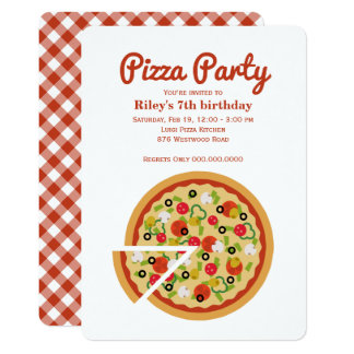 Pizza Slice 13 Cm X 18 Cm Invitation Card
