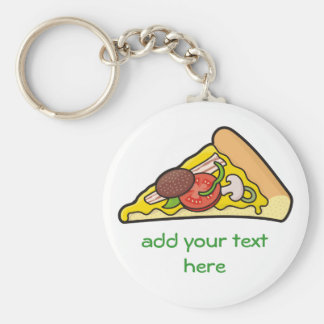 Pizza slice key ring
