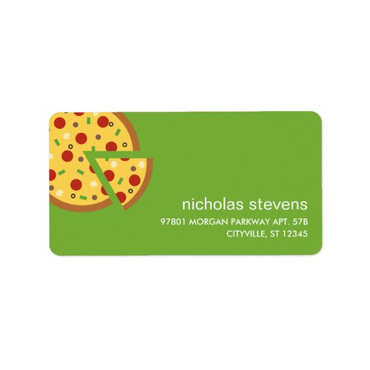 Pizza Slices Address Labels
