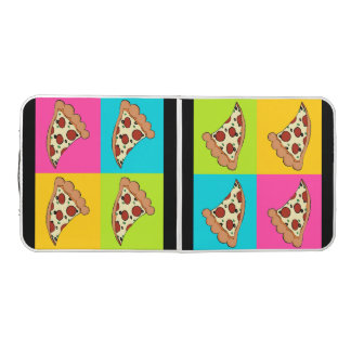 Pizza slices design beer pong table