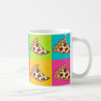 Pizza slices tiled design coffee mug