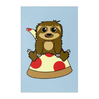 Pizza Sloth Acrylic Print