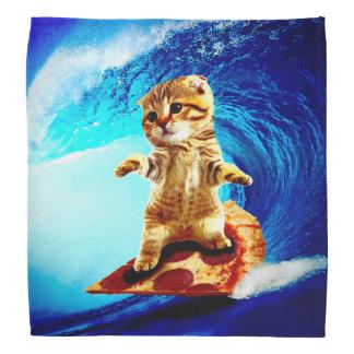 Pizza Surfing Cat Head Kerchief