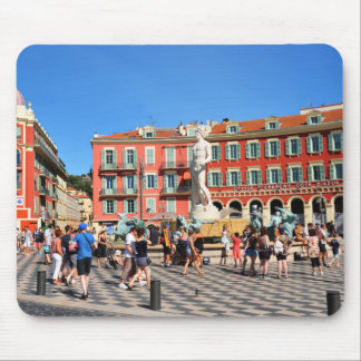 Place Massena in Nice, France Mouse Pad