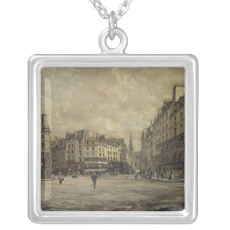 Place Maubert, Paris, 1888 Silver Plated Necklace