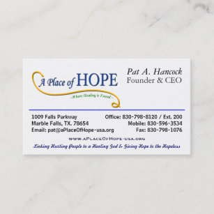 Ceo business cards zazzle nz place of hope the ceo business card colourmoves