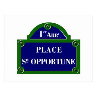 Place Sainte-Opportune, Paris S, Paris Street Sign Postcard