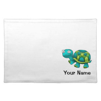 Placemat, Cute Turtle Cartoon, Name Template Placemat