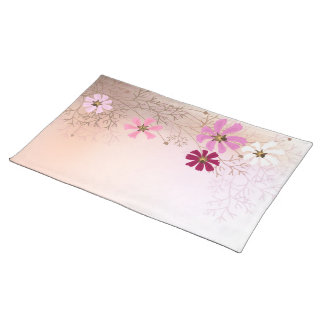 Placemat  with tender floral background.