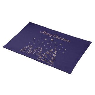 Placemats Christmas Landscape Gold–Own Color