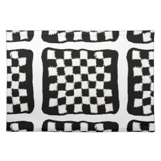 Placemats with Crocheted, Checkered Style
