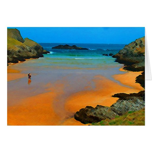 Plage de Donnant Greeting Cards