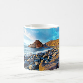 Plage de El Golfo Plages de Lanzarote Espagne Basic White Mug